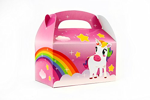 Ifavor123 Unicorn Rainbow Gift Party Treat Favor Boxes for Unicorn Theme Birthday Parties Events - 24 Pack -