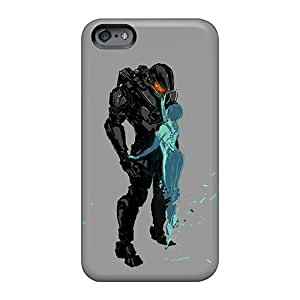 Hard Protect Phone Case For Apple Iphone 6s Plus (umW1136odqu) Unique Design High-definition Halo 4 Master Chief And Cortana Pictures