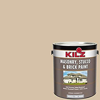 Masonry Amp Stucco Paint Light Gray 1 Gal Amazon Com