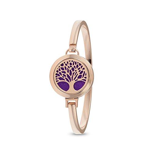 Tree of Life Diffuser Bracelet (Rose Gold)