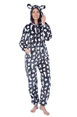 9c2b53b8fd MASQ Ladies Ruby Rabbit Fleece Nightwear  Amazon.co.uk  Clothing