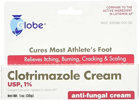 (3 PACK) Clotrimazole Anti Fungal Cream, 1% USP Compare to Lotrimin 1oz.