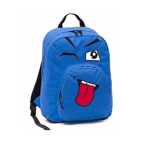 f26187e753 ... scuolaZAINO INVICTA – OLLIE PACK FACE – Blue linguaccia – tasca porta  pc padded – scuola e tempo libero americano 25 LT. 🔍. Valigeria ...