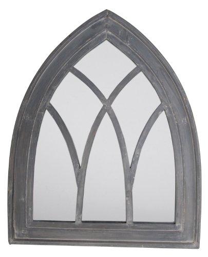 Esschert Design USA WD11 Mirror Gothic, Gray Wash Finish from Esschert Design USA