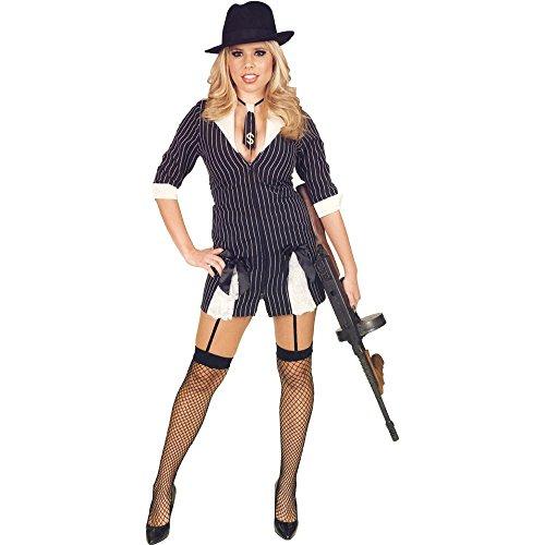 (Women's Mobster Moll Girl)