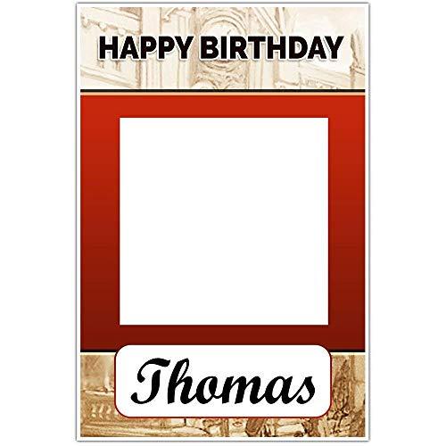 (Ticket To Ride Birthday Selfie Frame Poster)