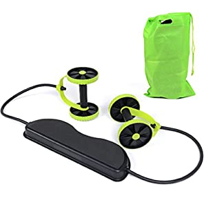 MAZIMARK--Abs Roller Workout Equipment Exercise Body Fitness Abdominal Training Machines