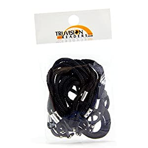TruVision Readers - Universal 4 Pack of Traditional Eyeglass Chain Holder. Let's Be Honest, Losing Glasses Is Expensive. This Simple and Affordable Solution Reduces Loss of Your Favorite Glasses. Perfect for All Styles of Glasses Including Sunglasses