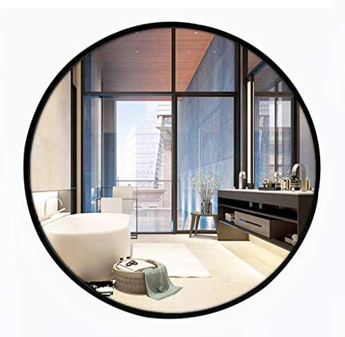 玄関廊下のリビングルームの直径40/50 / 60cmブラック用の境界線ラウンドミラー壁掛けバニティミラー付きバスルームミラー Tilting Mirror