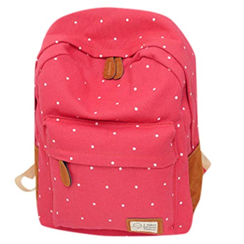 SUNyongsh Woman 2019 New Fashion Wave Point Backpack Student School Bag Travel -