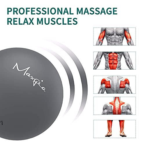 Electric Vibrating Massage Ball, Lacrosse Ball, Exercise Ball for Trigger Point, Deep Tissue Massager for Myofascial Release,Portable Fitness Massager for Pain Relief & Muscle Recovery (Gray)