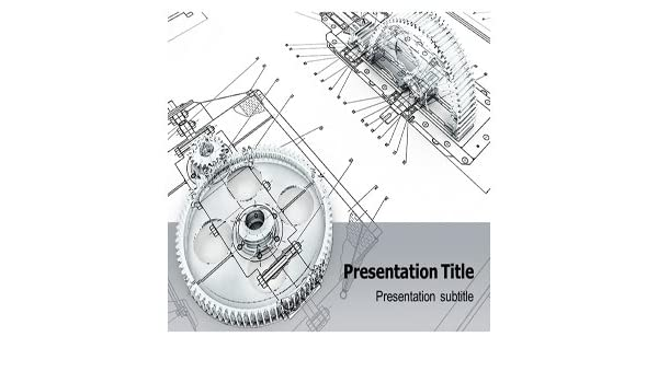 Amazon com: Mechanical Engineering Powerpoint Template - Mechanical
