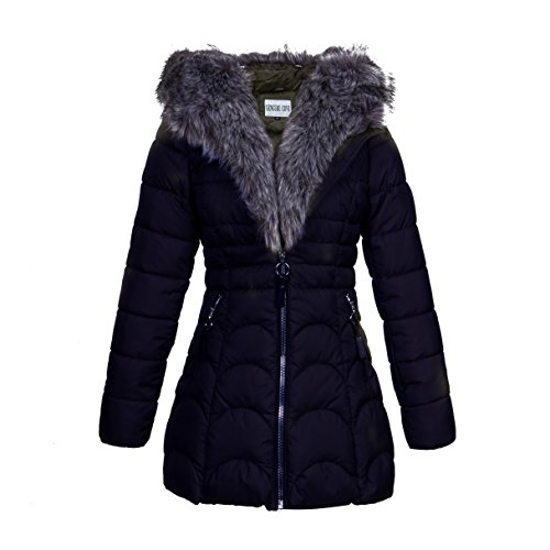 ForeMode Women Winter Coat Warm Thick Parkas (XL, Blue)