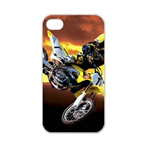 iPhone 4,4S Fantasy Motor Bike Racing Highway Rider Case for iPhone 4,4S 100% TPU (Laser Technology)