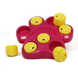 Outward Hound Paw Hide Interactive Dog Toy Puzzle for Dogs (Red/Yellow)