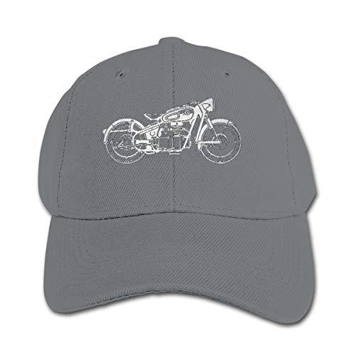 (Angkella Motorcycle Clipart Children Toddler Infant Cap Hat Peaked Baseball Hats Gray)