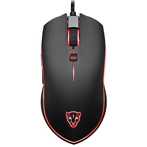 Cywulin Motospeed V40 4000 DPI 6 Buttons Breathing LED Optical Wired Gaming Mouse for PC,Laptop, Notebook, Desktop, Tablet