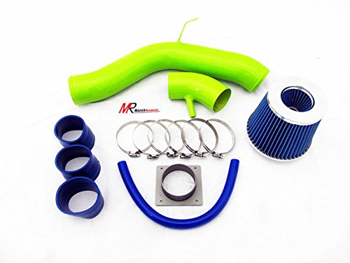Nissan Horsepower Altima (02 03 04 05 06 Nissan Altima 2.5L L4 GREEN Piping Cold Air Intake System Kit with Blue Filter)