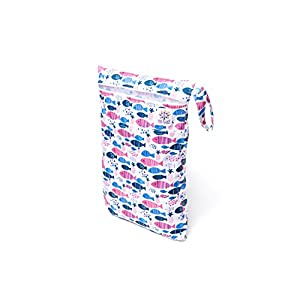 BB Well Wet Bag -2 zippered pockets for wet and dry use-multipurpose from cloth diapers and wipes to swimsuits-this hanging wet bag is for the baby-toddler-kids and adults
