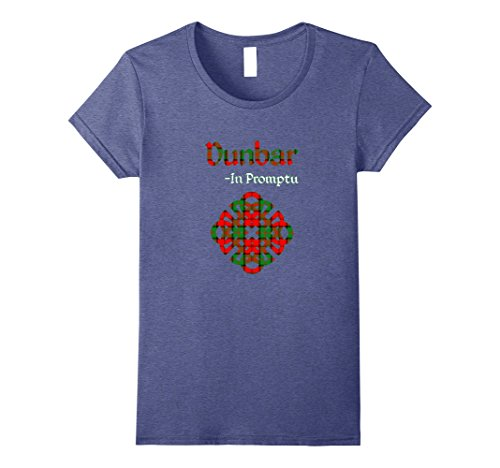 Womens Clan Dunbar Scottish Pride T-Shirt Large Heather Blue