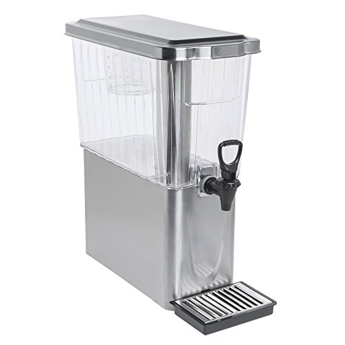 Service Ideas CBDT3SSD Service Ideas CBST3SSD Diamond Cold Beverage Dispenser, 3 Gallon (384 oz.), Brushed Stainless/Clear Tritan Plastic, by Service Ideas