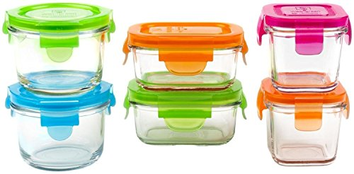 (Wean Green Glass Baby Food Storage Containers Starter Set, 12 Pieces)