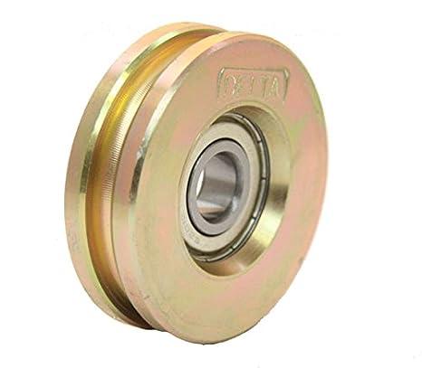 Rueda de la rueda de la rueda de la rueda 60mm rueda de acero del surco del cable redondo para el alambre o cuerda: Amazon.es: Coche y moto