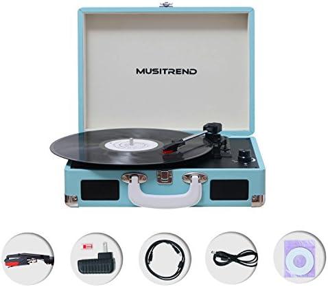 Amazon.com: Musitrend - Tocadiscos de vinilo con altavoces ...