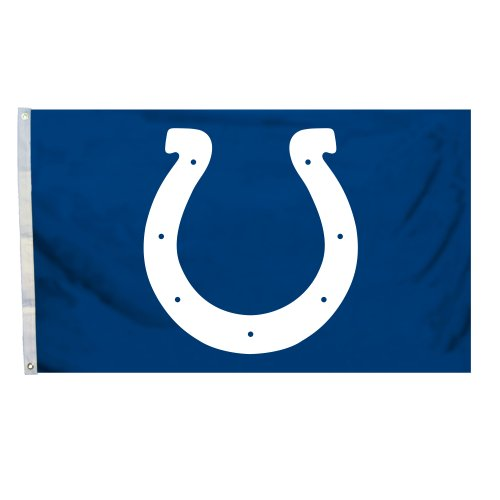 NFL Indianapolis Colts Logo Flag with Grommets, 3 x (Indianapolis Colts Decor)