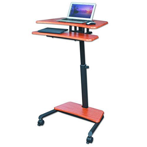 Balt Up-Rite Workstation Sit/Stand Desk, Height Adjustable, 90459, Cherry, 28.5