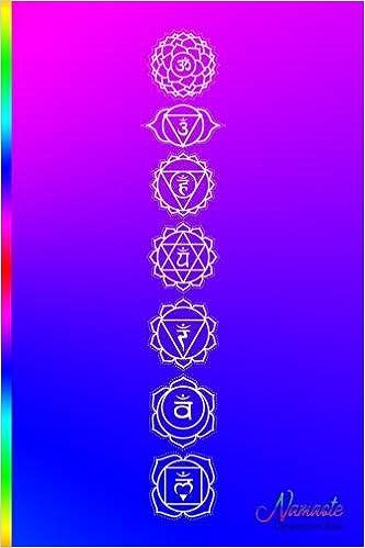 Namaste Composition Book Namaste 7 Chakra Symbols On A Bright
