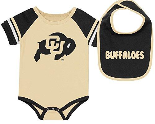 Colorado Buffaloes Newborn & Infant Gold Bodysuit & Bib Set (3/6)