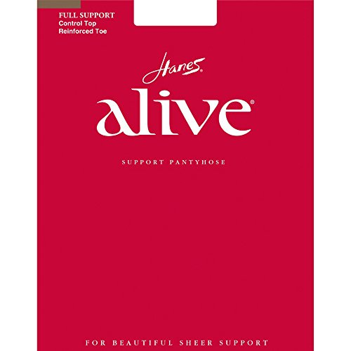 Hanes Alive Support Control Top - Hanes Alive Women`s Full Support Control Top RT Pantyhose - Barely There