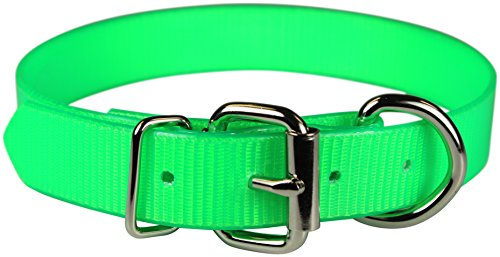 Collar Reflective Sunglo (OmniPet Sunglo Dee in Front Dog Collar, 1 x 23, Neon Green)