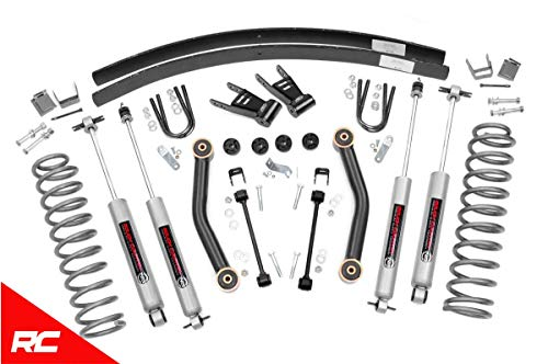 Rough Country - 623N2 - 4.5-inch Suspension Lift Kit w/ Premium N3 Shocks for Jeep: 84-01 Cherokee XJ 4WD