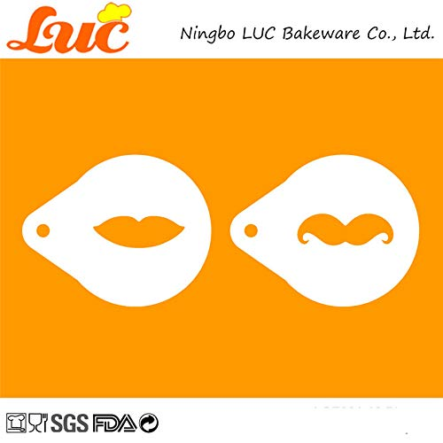1 piece LUC Cartoon Mom And Dad Cake Stencils Best Dad Design Biscuit Cookie Cutter Stencil Set Template for Cake Decoration Tools ()