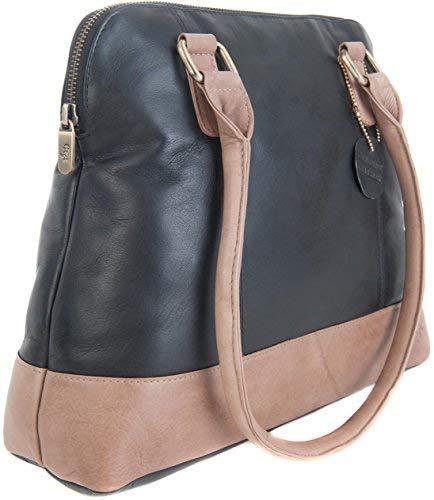 Leather Soft Colourways Gigi Tone Bone Two In Handbag 8701 Black Shoulder black 4 Othello bone wqwHRIF