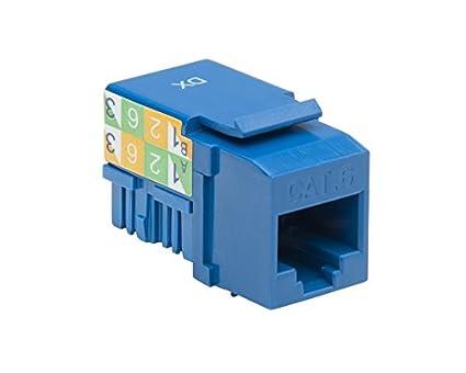 platinum tools 726bl 50 keystone jack, cat6, 110, 50 piece installer TIA EIA Standard Wiring image unavailable