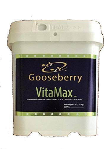 Gooseberry Vitamax Horse Feed Add to existing Feed Routine No Need for Multiple costly Supplements to Promote Strong Health. (8lb)