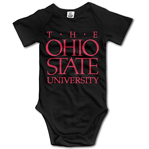 LALayton Ohio State University Original For Climbing Clothes Infant Rompers - Black (Halloween College Stories)
