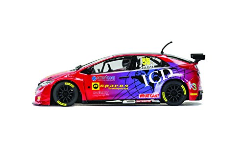 Scalextric BTCC Honda Civic Type R Brands Hatch 2016 Eurotech Racing #55 Jeff Smith Slot Car (1:32 Scale)