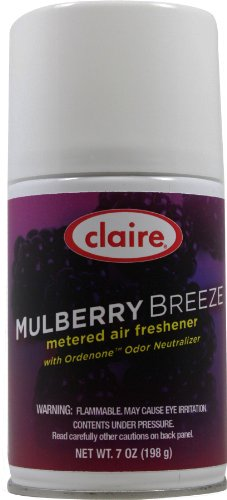 Claire C-106 7 Oz. Mulberry Breeze Metered Air Freshener Aerosol Can (Case of 12)