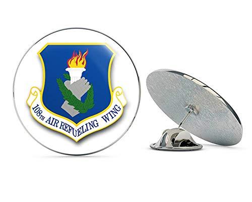 - US Air Force 108th Air Refueling Wing Military Veteran USA Pride Served Gift Metal 0.75