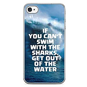 Sharks iPhone 4s Tranparent Edge Case - Beach Collection