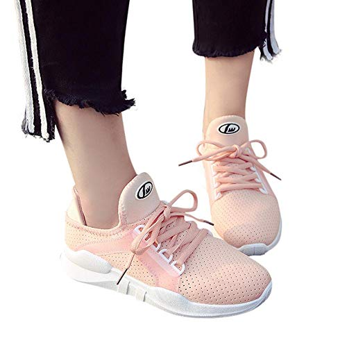- Oliviavan Women's Fashion Casual Running Shoes,Ladies Solid Lace-up Breathable Sneakers Sport Shoes