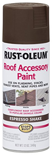Shake Shingle Roof - Rust-Oleum 286117 Roof Accessory Spray Paint, 12 oz, Espresso Shake/Brown