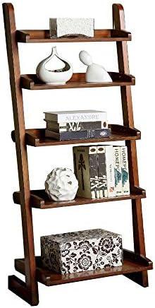Furniture of America Lugo Ladder Display Shelf, 5, Brown