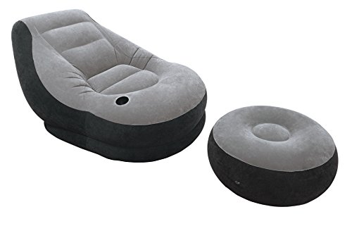 Intex Inflatable Ultra Lounge with Ottoman (Blue Lounge Cool Feet)