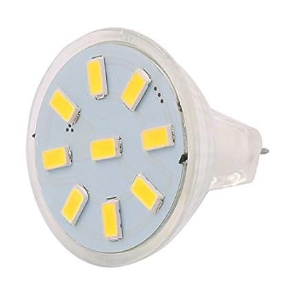 eDealMax DC 12V 2W MR11 5733 SMD 9 LED Bombilla LED Luz Lámpara de iluminación de