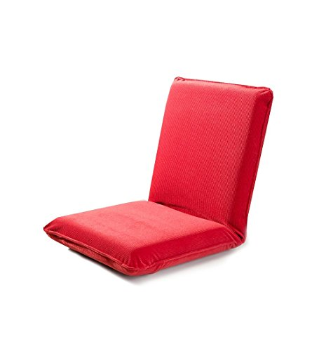 "Plow & Hearth 33963-RD Multiangle Folding Chair Pad with Adjustable Back, Red, 37"" L x 17"" W x 4.25"" H"